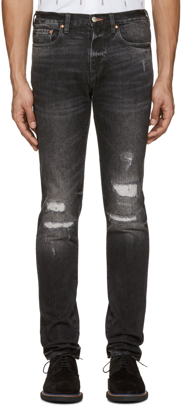 Ps By Paul Smith Black Slim Tapered Jeans
