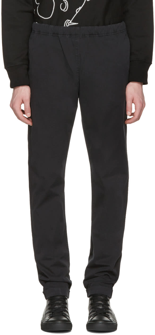 Ps By Paul Smith Black Drawstring Chinos