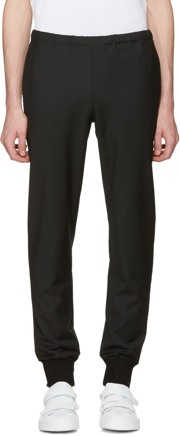 Ps By Paul Smith Black Wool Trousers