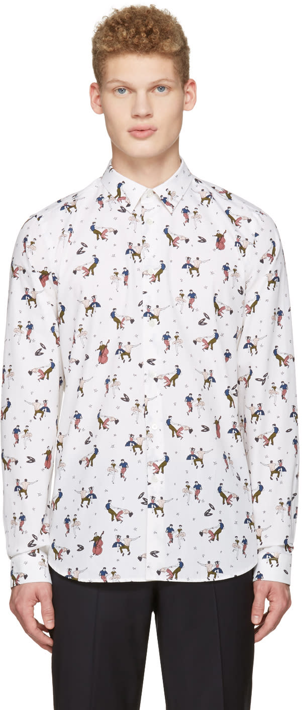 Ps By Paul Smith Cream Dancers Shirt