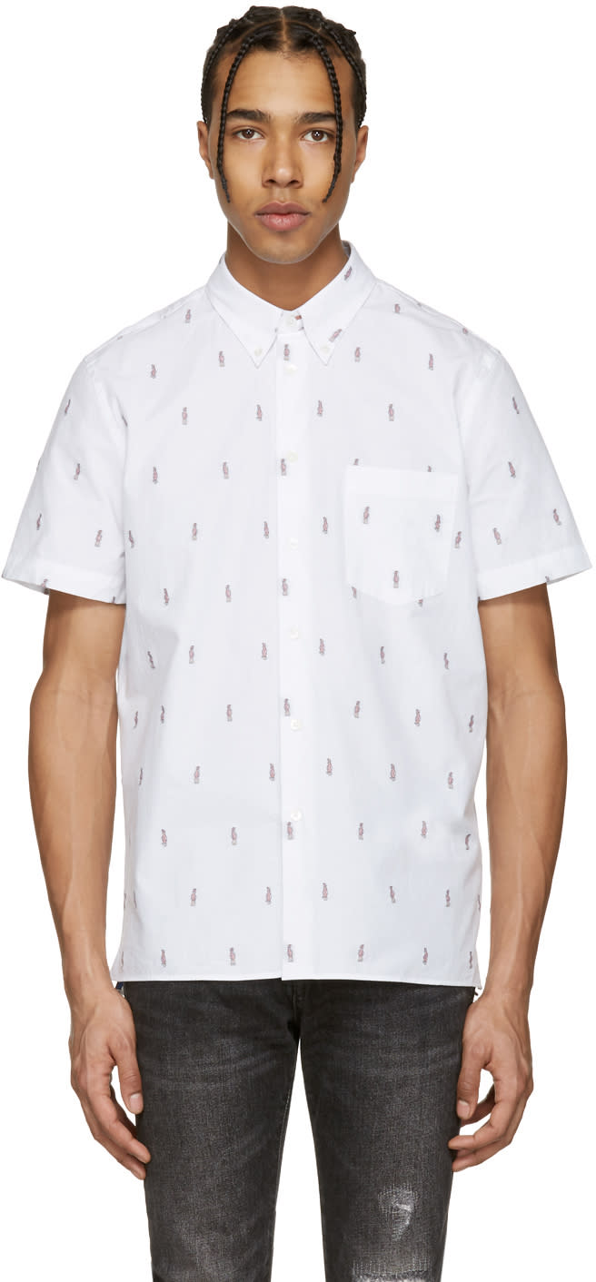Ps By Paul Smith White Mini Parrots Shirt