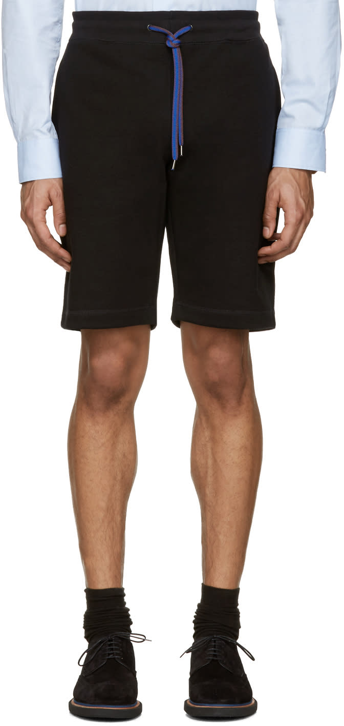 Ps By Paul Smith Black Contrast Drawstring Shorts