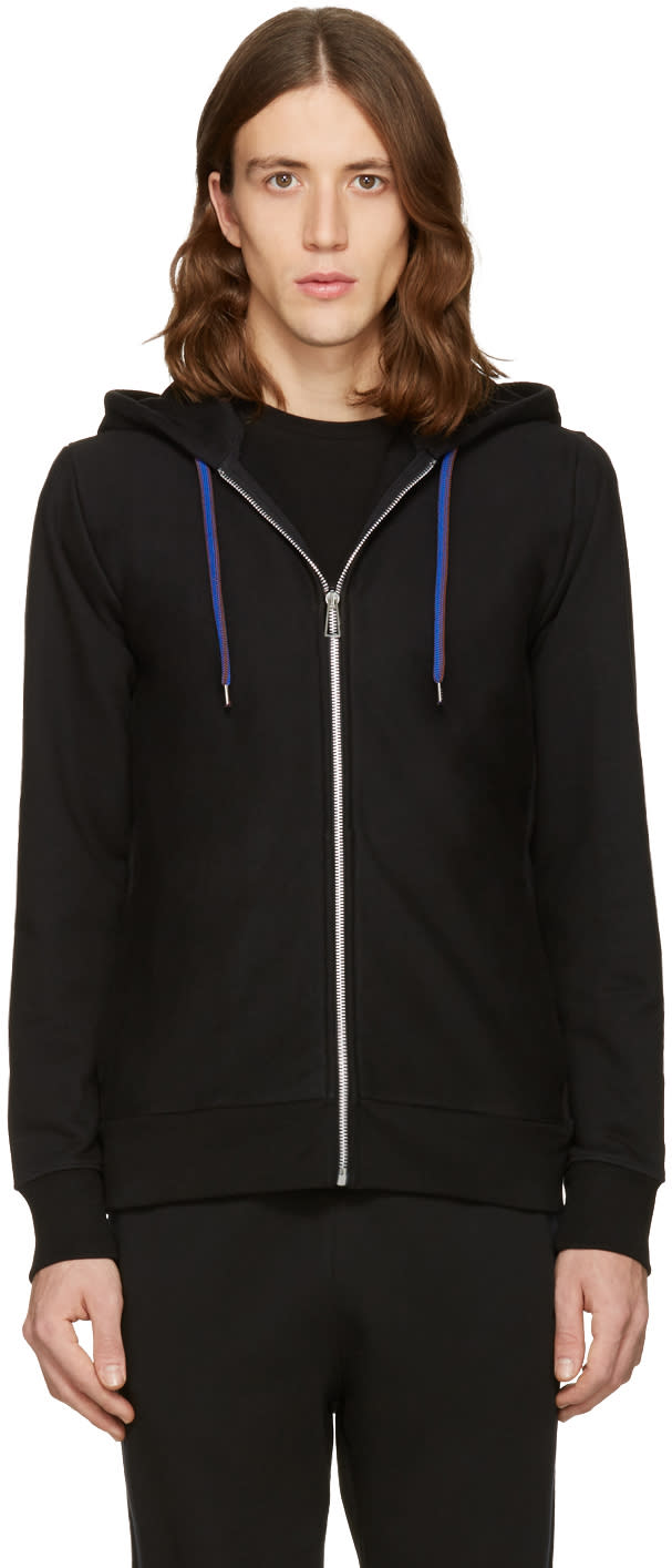 Ps By Paul Smith Black Cotton Hoodie