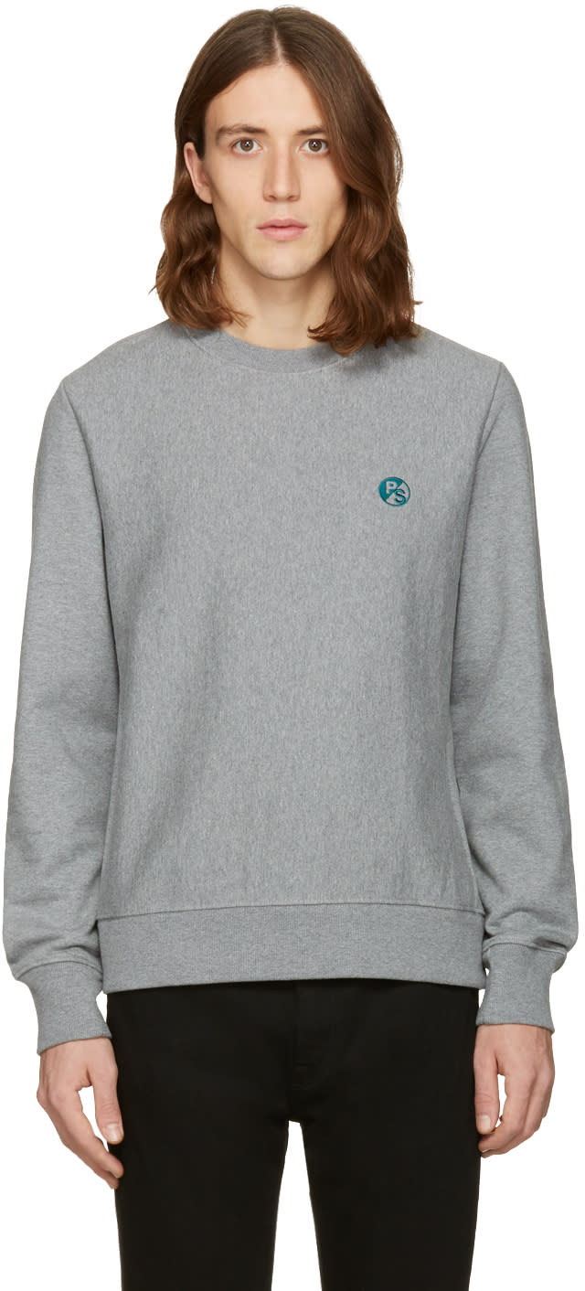 Ps By Paul Smith Grey Logo Pullover