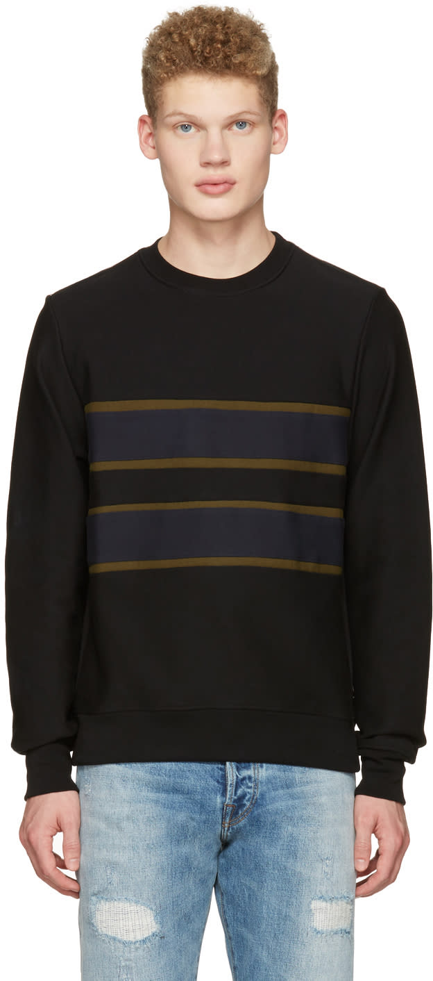 Ps By Paul Smith Black Stripe Pullover