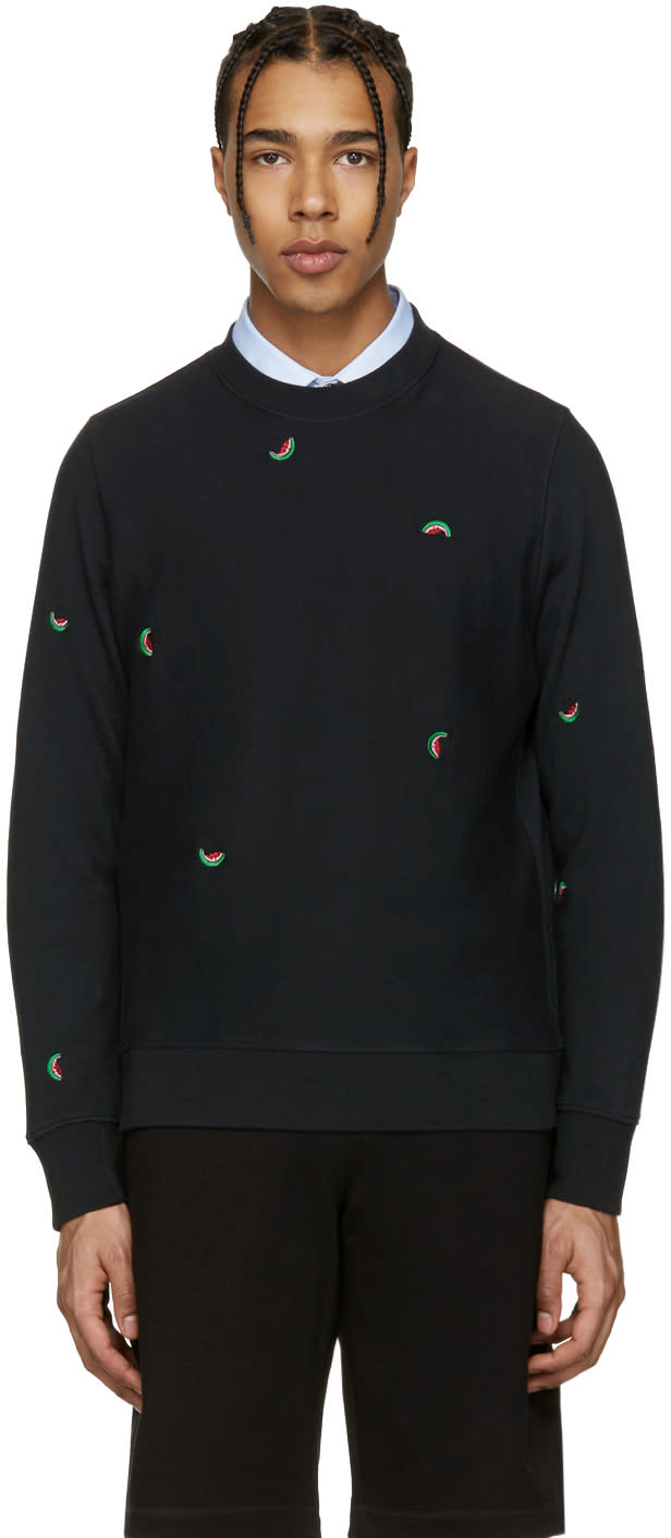 Ps By Paul Smith Black Watermelon Pullover