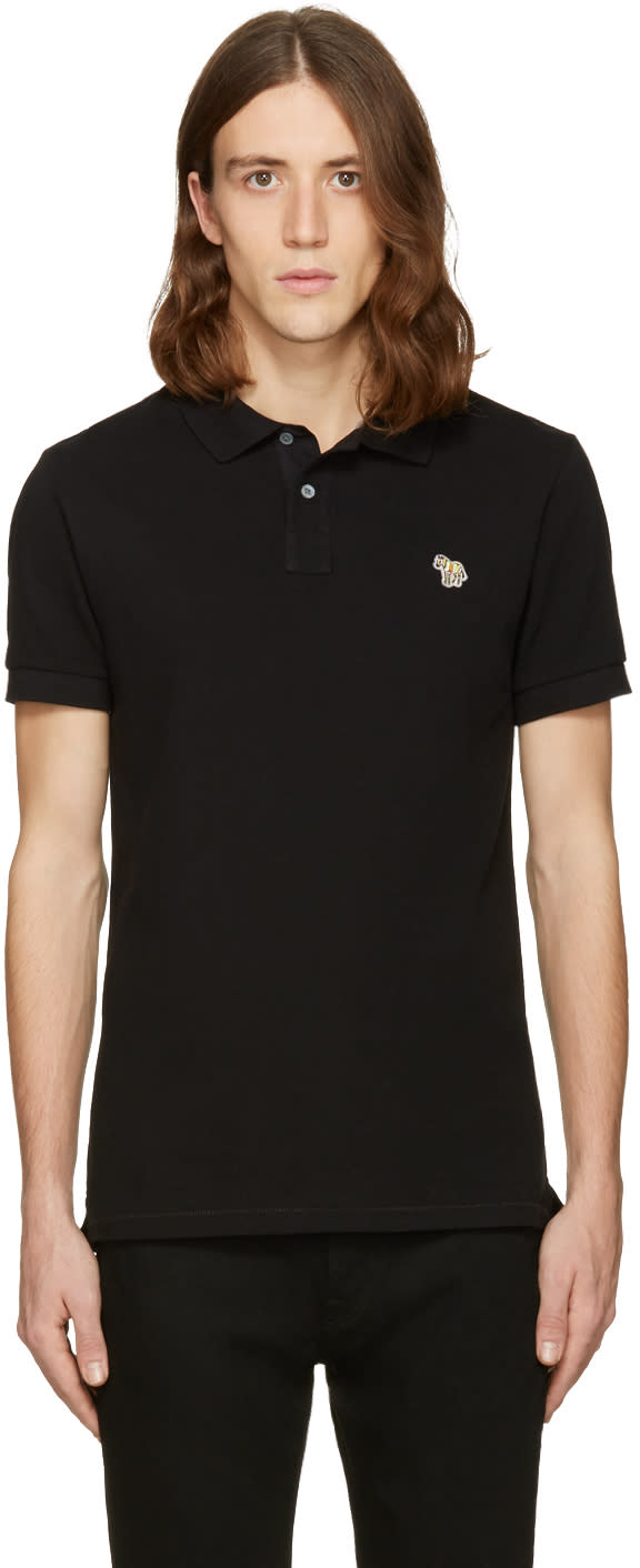 Ps By Paul Smith Black Zebra Polo