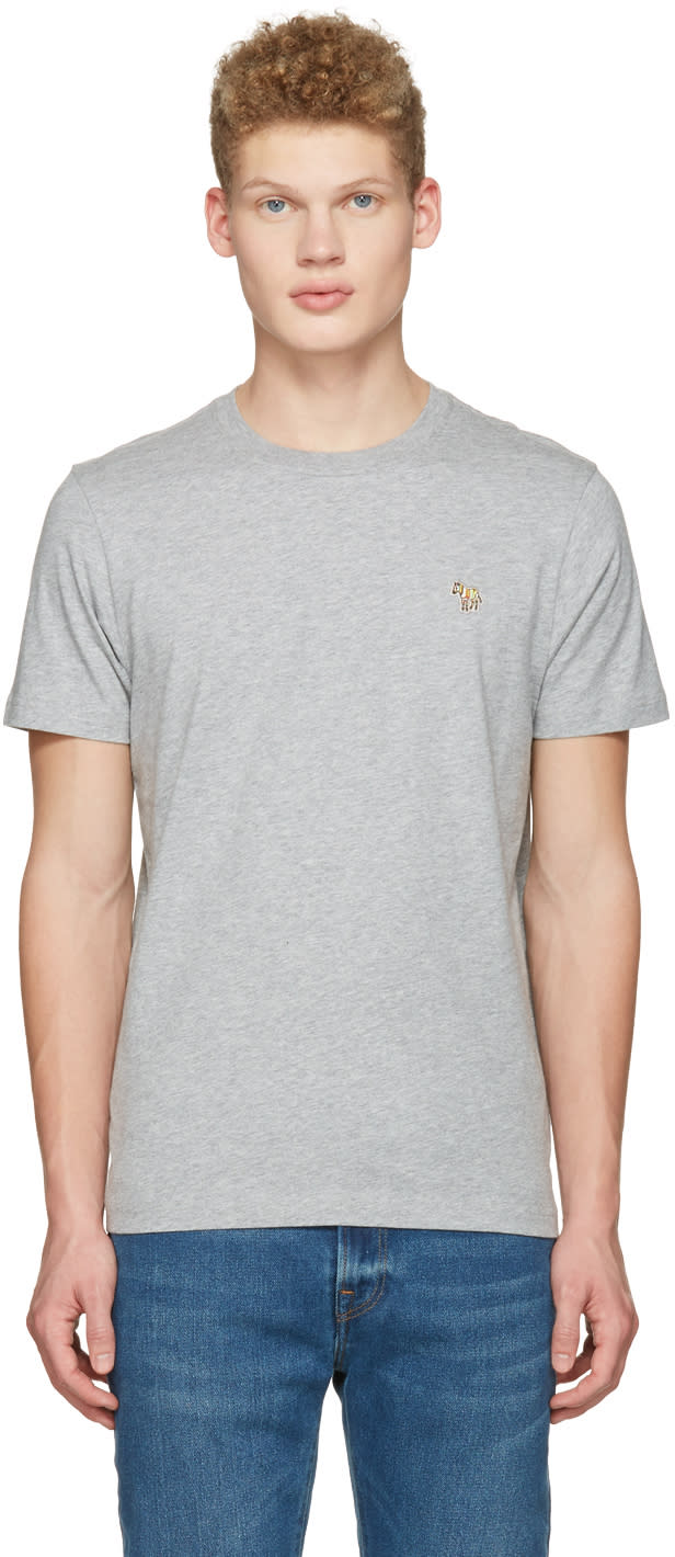 Ps By Paul Smith Grey Zebra T-shirt