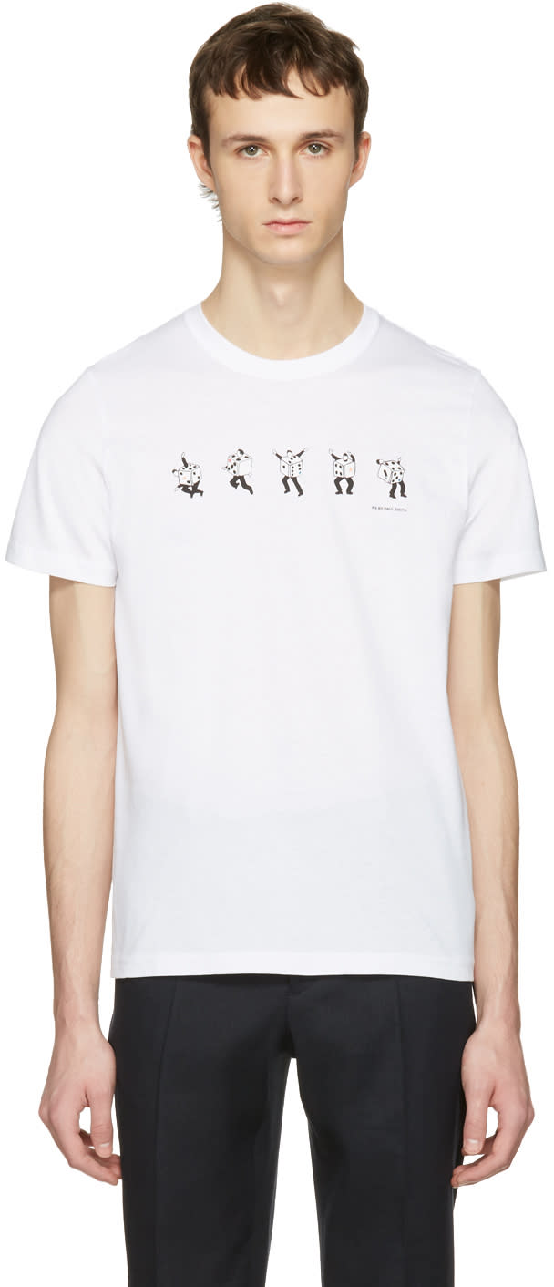 Ps By Paul Smith White Dancing Dice T-shirt