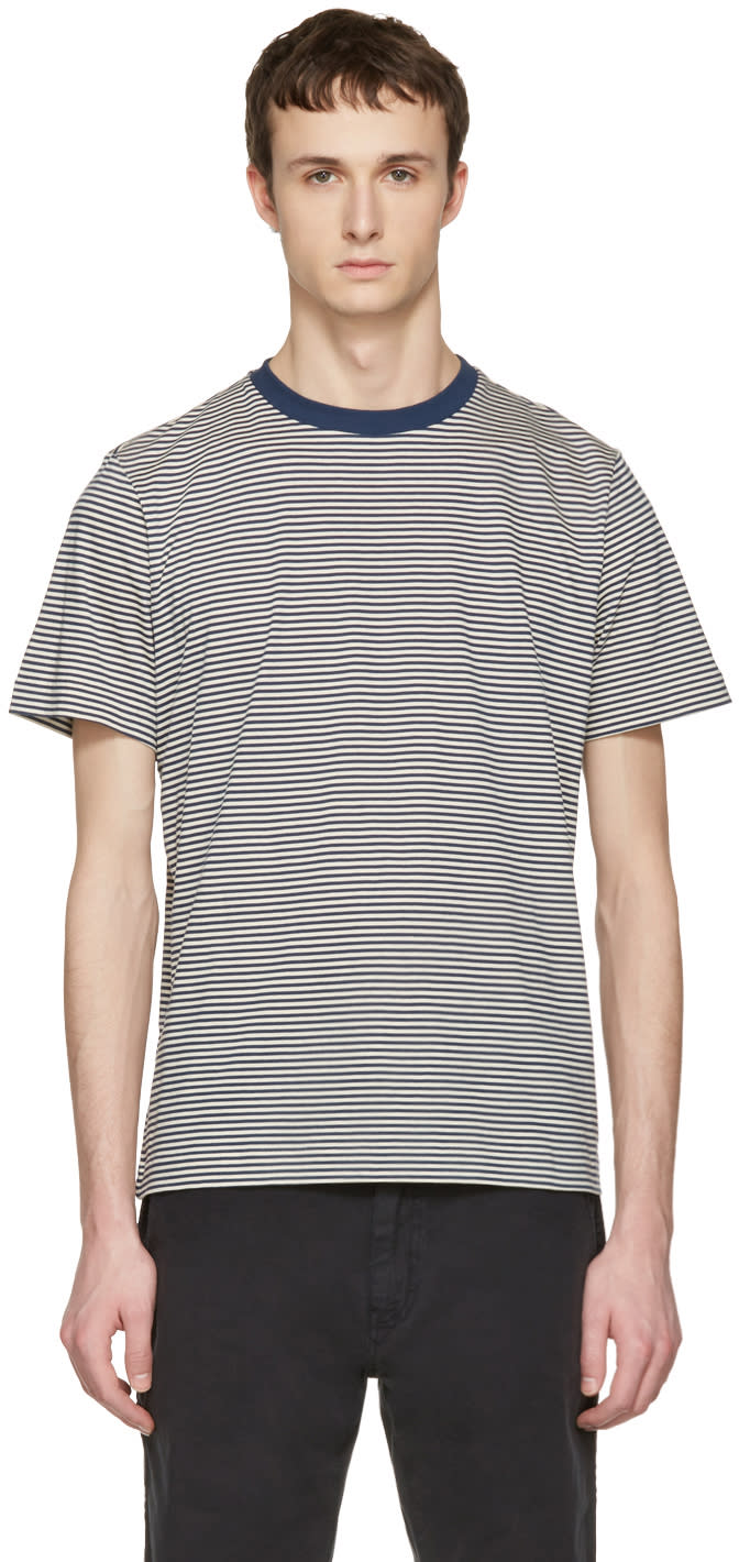 Ps By Paul Smith Navy Stripe T-shirt