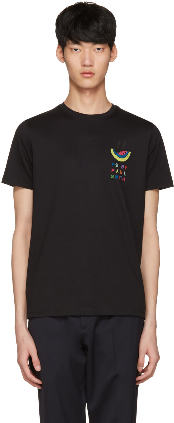 Ps By Paul Smith Black Watermelon T-shirt