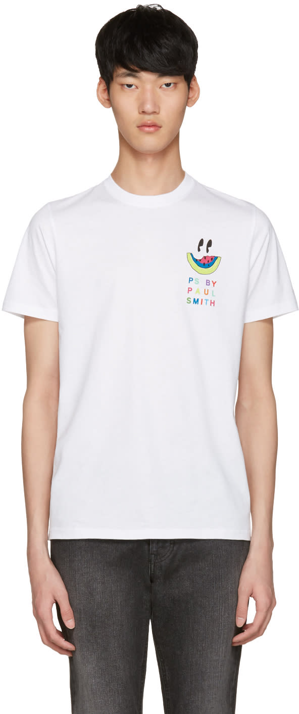 Ps By Paul Smith White Watermelon T-shirt