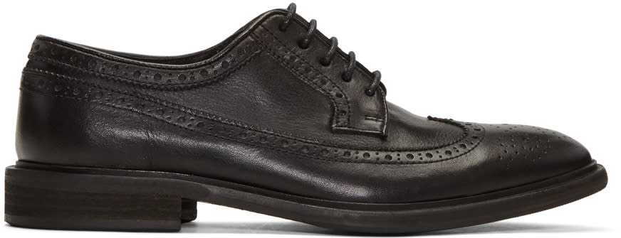 Ps By Paul Smith Black Leather Mallow Brogues