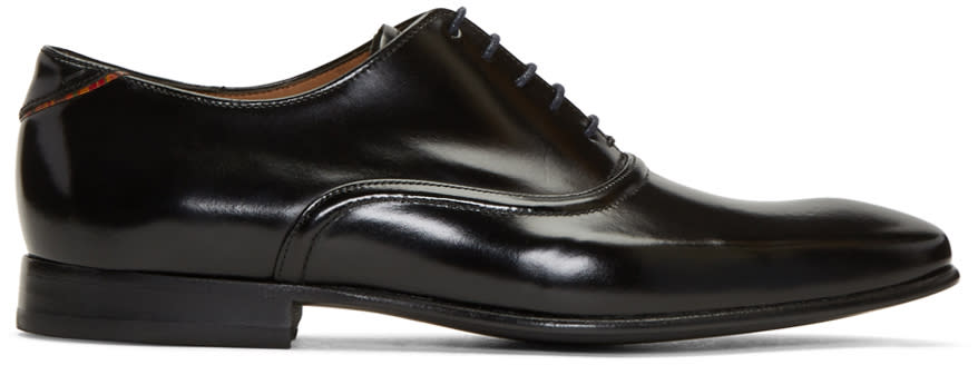 Ps By Paul Smith Black Leather Starling Oxfords