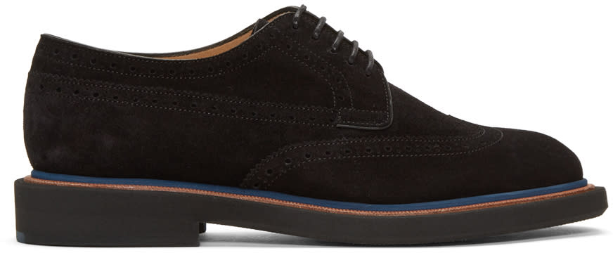 Ps By Paul Smith Black Suede Junior Brogues