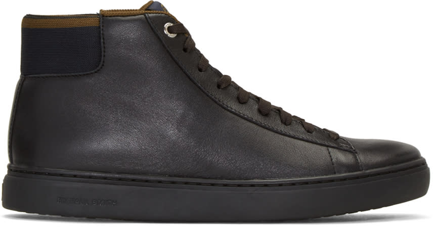 Ps By Paul Smith Black Shima High-top Sneakers