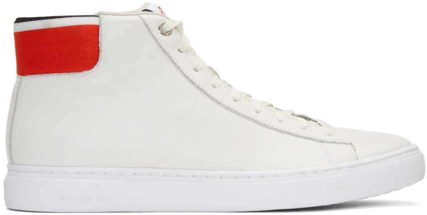 Ps By Paul Smith White Shima High-top Sneakers