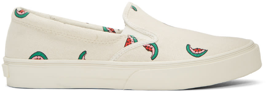 Ps By Paul Smith Ecru Watermelon Clyde Slip-on Sneakers