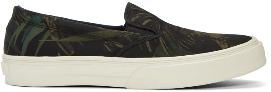 Image of Ps By Paul Smith Black Cockatoo Clyde Slip-on Sneakers