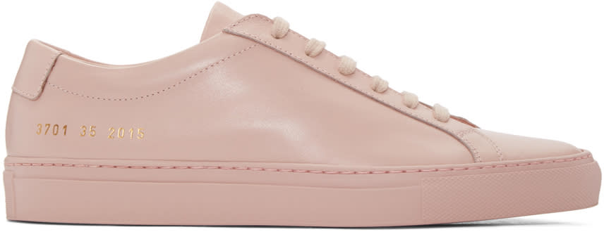 Woman By Common Projects Pink Original Achilles Sneakers