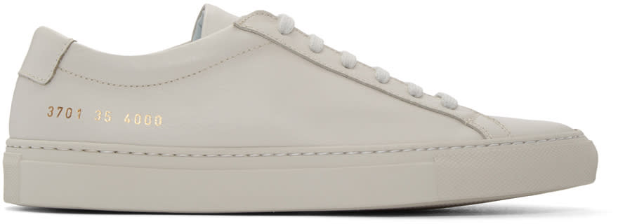 Woman By Common Projects Grey Original Achilles Sneakers
