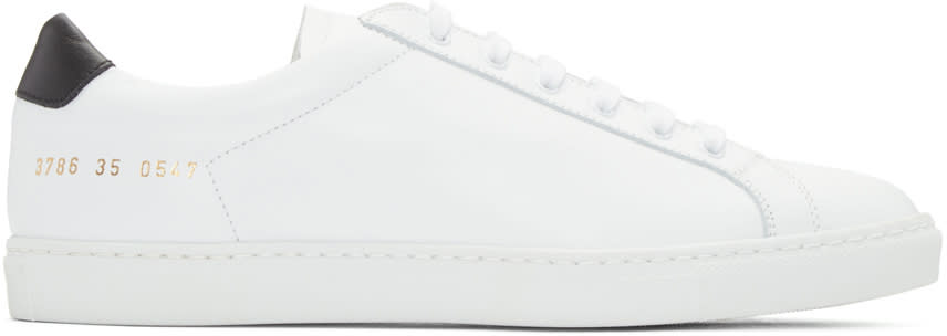 Woman By Common Projects White and Black Original Achilles Sneakers