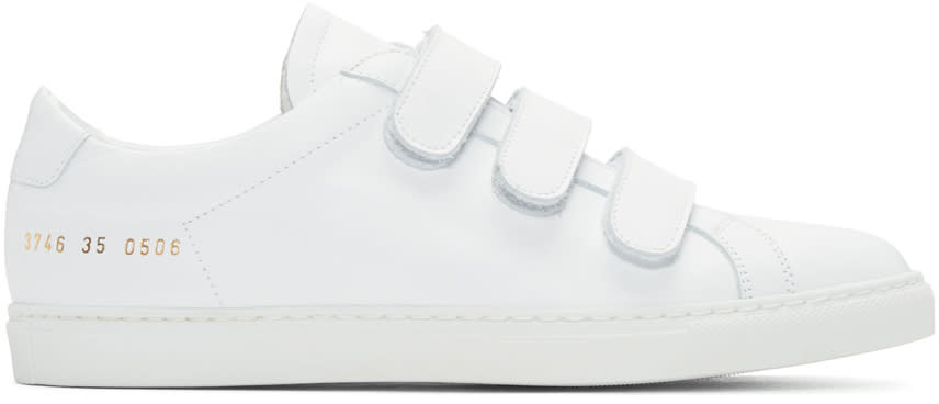 Woman By Common Projects White Achilles Three Strap Sneakers