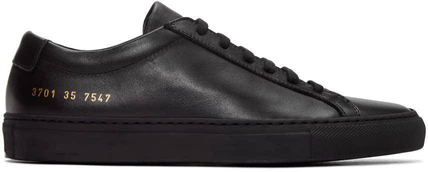 Woman By Common Projects Black Original Achilles Sneakers
