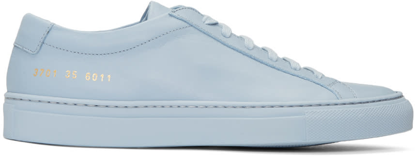 Woman By Common Projects Blue Original Achilles Low Sneakers