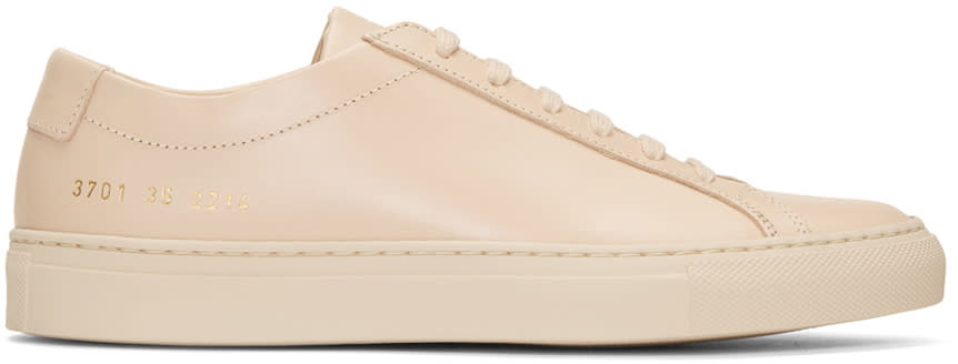 Woman By Common Projects Beige Original Achilles Low Sneakers