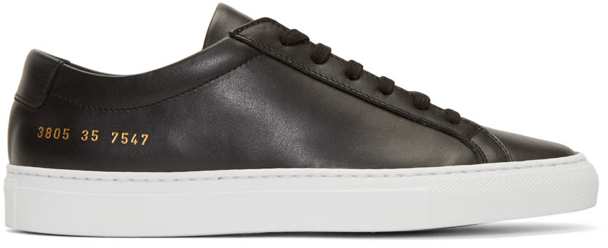 Image of Woman By Common Projects Black and White Original Achilles Low Sneakers