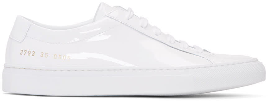Woman By Common Projects White Achilles Low Gloss Sneakers