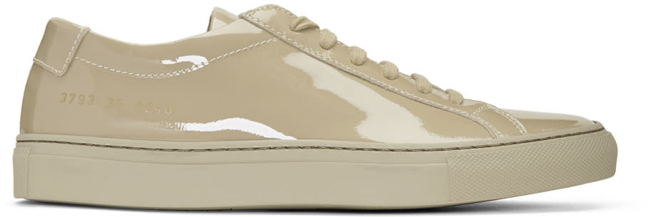 Woman By Common Projects Taupe Achilles Low Gloss Sneakers