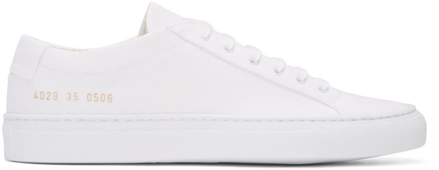 Woman By Common Projects White Canvas Achilles Low Sneakers