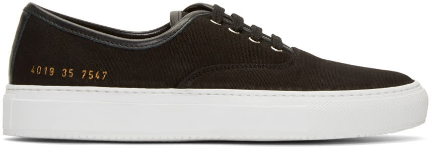 Woman By Common Projects Black Canvas Tournament Four Hole Sneakers