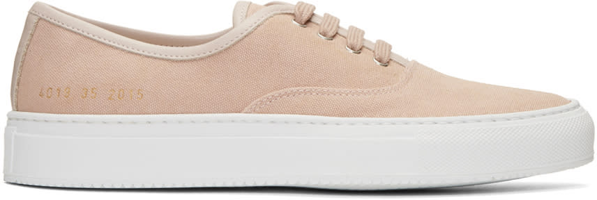 Woman By Common Projects Pink Canvas Tournament Four Hole Sneakers