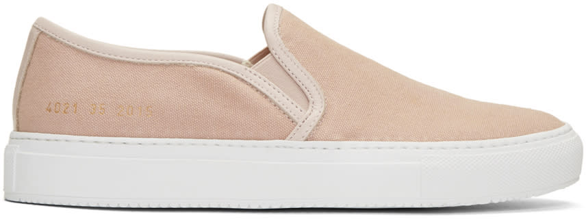 Woman By Common Projects Pink Canvas Tournament Slip-on Sneakers