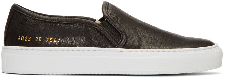 Woman By Common Projects Black Tournament Slip-on Sneakers