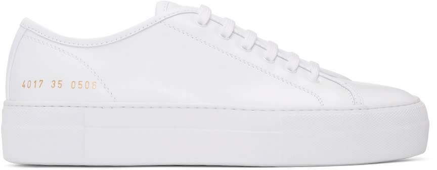 Woman By Common Projects White Tournament Low Sneakers