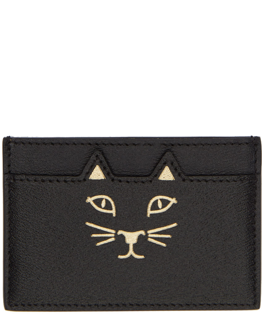 Image of Charlotte Olympia Black Feline Card Holder