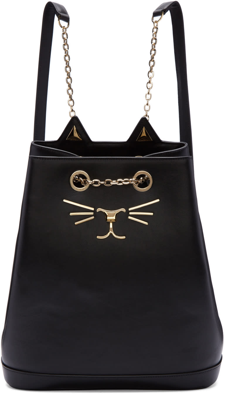 Image of Charlotte Olympia Black Feline Backpack