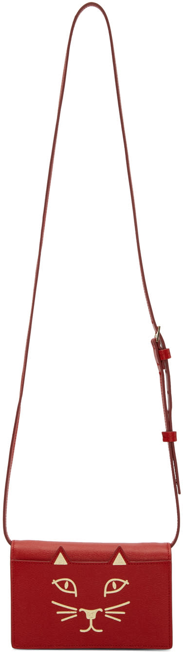 Charlotte Olympia Red Feline Bag