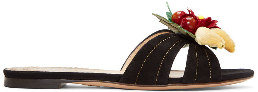 Charlotte Olympia Black Tropical Sandals