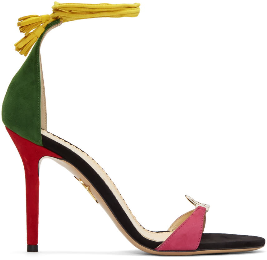 Charlotte Olympia Multicolor Suede lets Dance Sandals