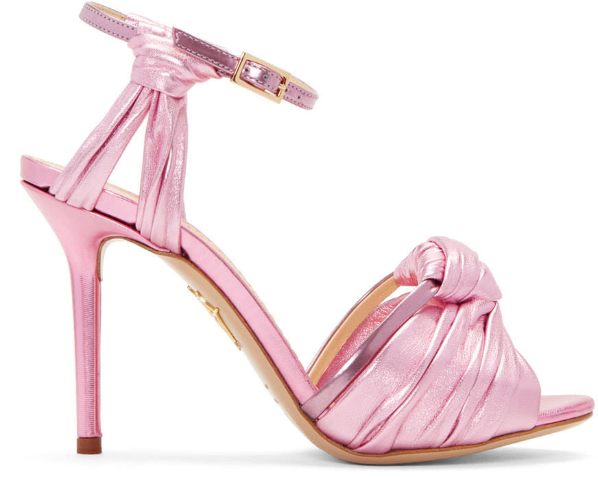 Charlotte Olympia Pink Broadway 95 Sandals