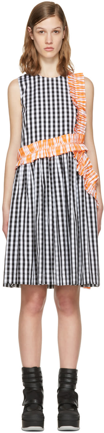 Msgm Black Ruffle Picnic Dress