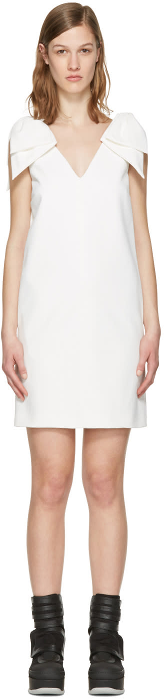 Msgm White Bows Dress