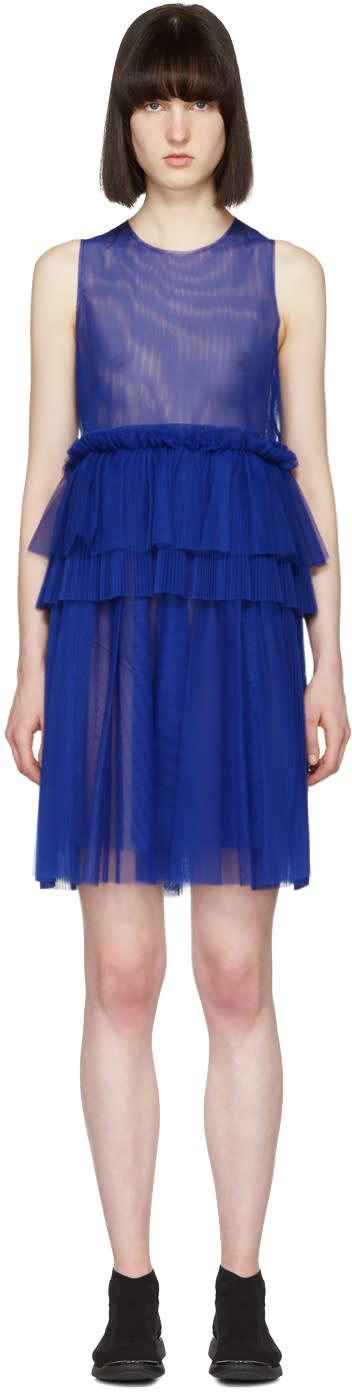 Msgm Blue Tulle Dress