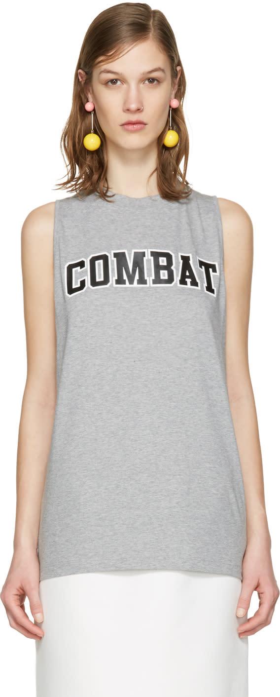 Msgm Grey combat Tank Top