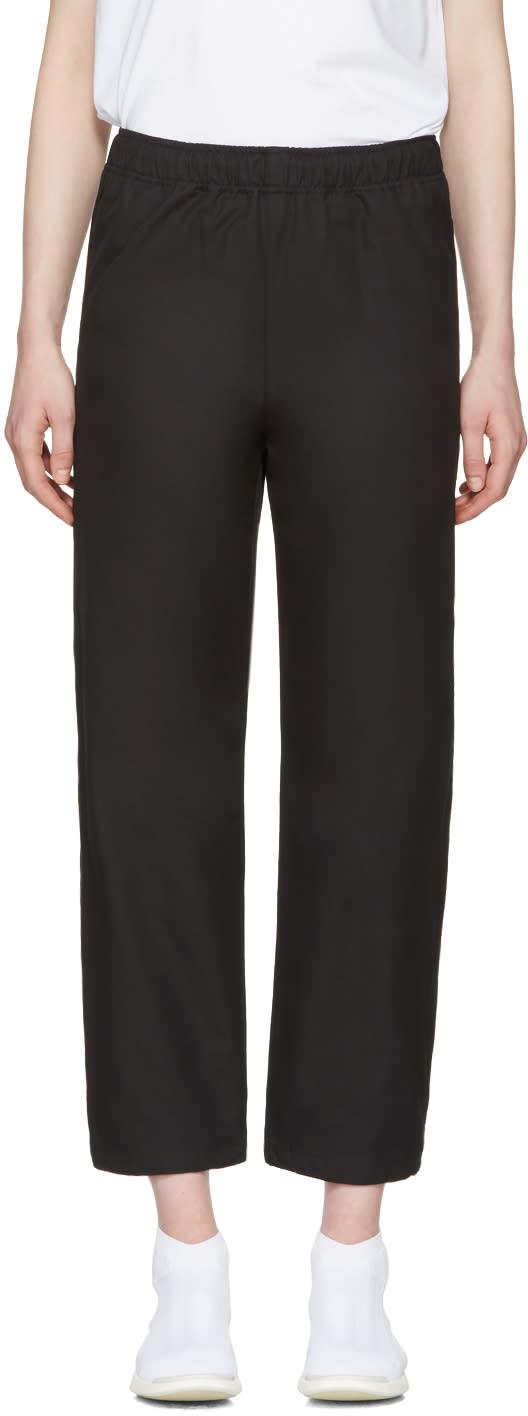 Msgm Black Parachute Lounge Pants